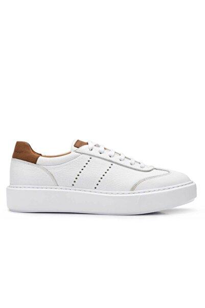 Nevzat Onay Hakiki Deri Beyaz Sneaker Erkek Ayakkabı -11730-
