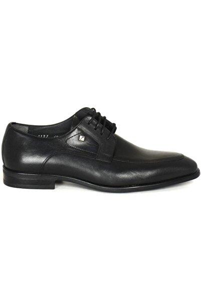 Fosco 1137 Siyah Deri Klasik Ayakkabı