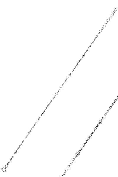 Söğütlü Silver Gümüş Rodyumlu Top Top Bileklik