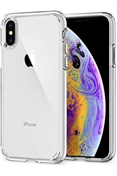Apple Iphone X Kılıf Şeffaf Süper Silikon Kapak