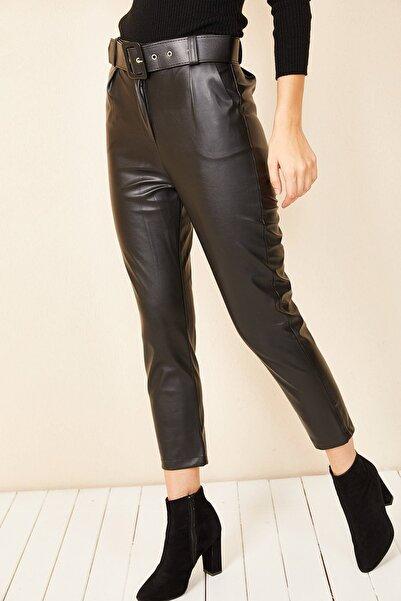 HAKKE Havuç Model Deri Pantolon