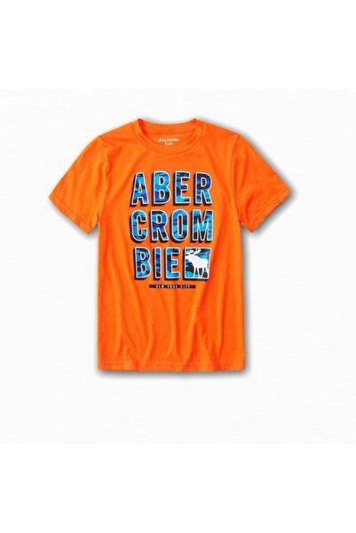 Abercrombie Erkek Çocuk Logo Baskılı T-shirt