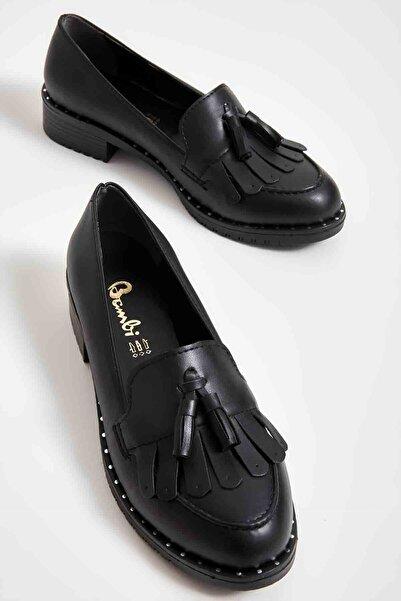 Bambi Siyah Kadın Loafer Ayakkabı M07782345