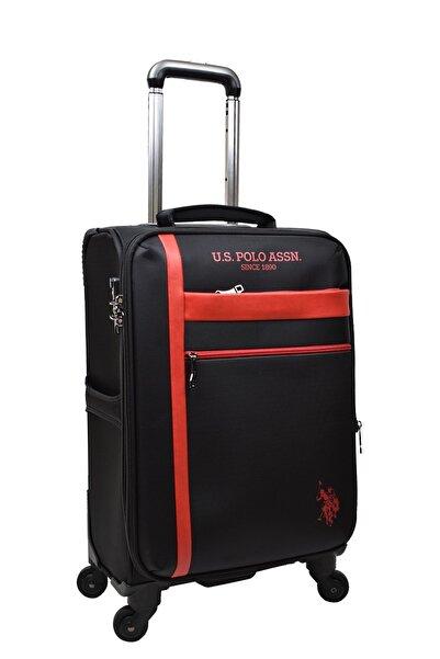 U.S POLO U.s. Polo Assn. Valiz Kabin Boy Siyah Kumaş Valiz