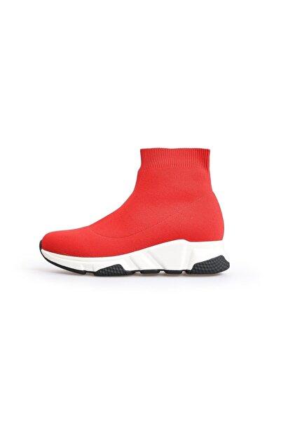 Flower Kırmızı Kazak Kadın Spor Ayakkabı