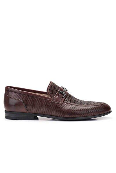 Nevzat Onay Hakiki Deri Kahverengi Günlük Loafer Erkek Ayakkabı -11798-