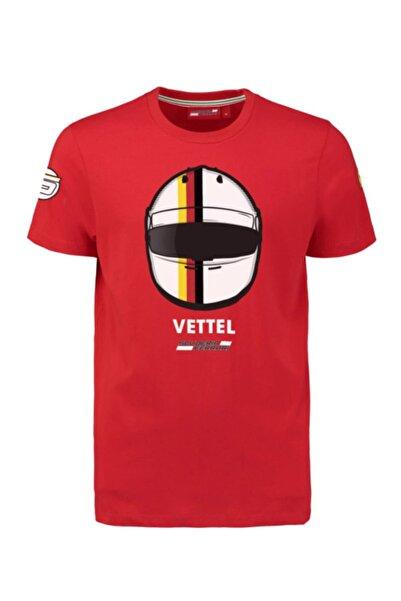 Scuderia Ferrari Erkek Kırmızı Ferrari Scuderia F1 Sebastian Vettel Tshirt