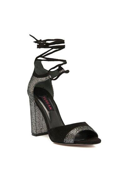 Tergan Siyah Deri Kadın Ayakkabı 64263a01