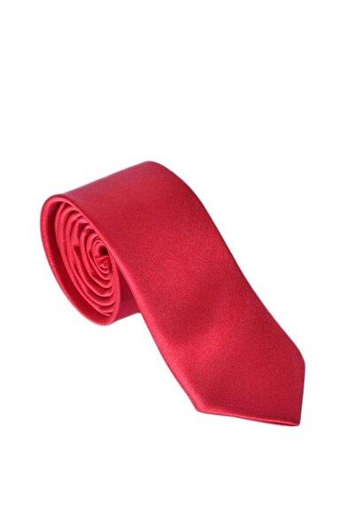 Ottomoda Kırmızı Saten Erkek Kravat