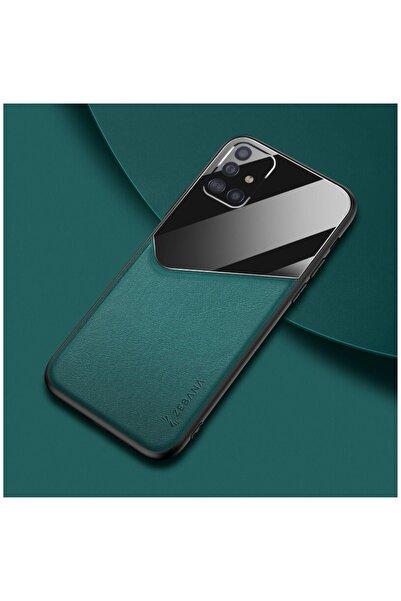 Dara Aksesuar Samsung Galaxy A51 Kılıf Zebana New Fashion Deri Kılıf Yeşil