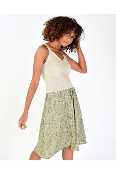 Addax Kadın Taş Askılı Triko Bluz T2053 - F13 ADX-0000019301