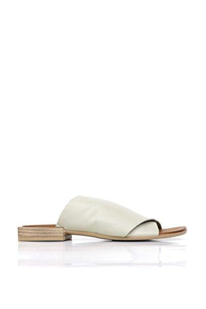 BUENO Shoes Hakiki Deri Topuklu Kadın Terlik 20wq5609
