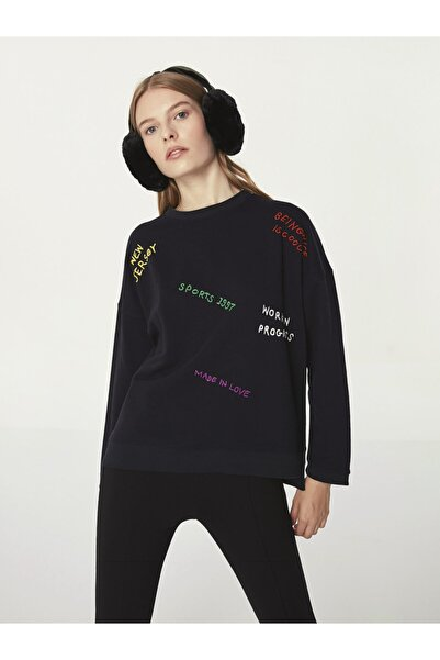 Twist Slogan Baskılı Sweatshirt