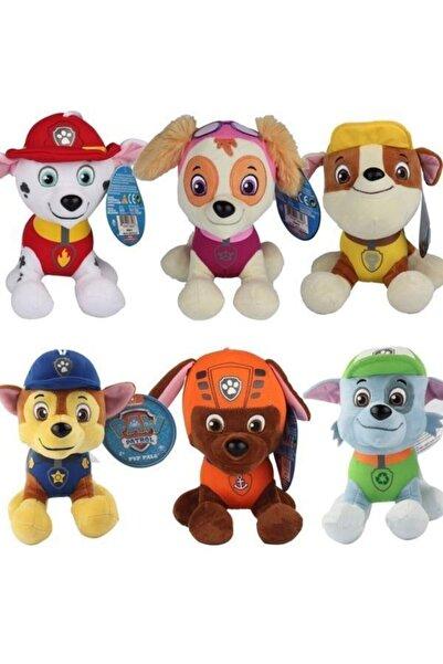 ERKOL OYUNCAK 6 Adet 15 Cm Paw Patrol Peluş Oyuncak Köpekçikler 6 Farklı Renk