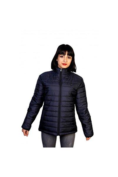New Brand Jibau Kışlık Kadın Şişme Mont Lacivert Renk