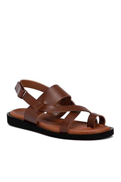 Tergan Taba Deri Erkek Sandalet 54756a29