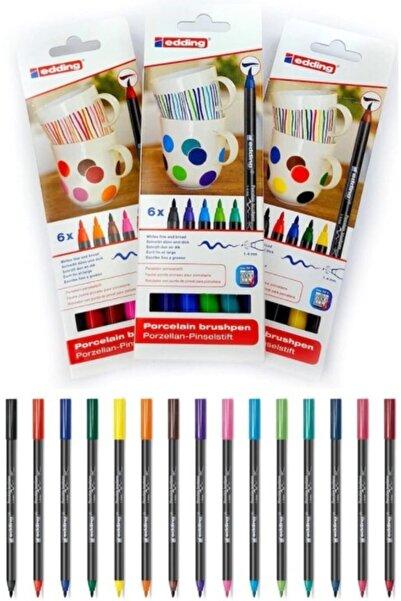 Edding Sıcak + Soğuk + Ana Renkler Porselen Boyama Kalem Seti