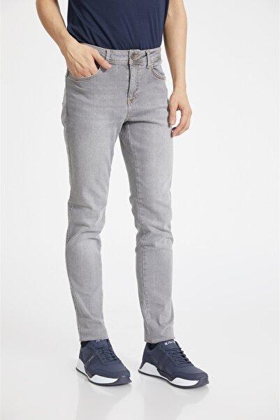 Avva Erkek Gri Slim Fit Jean Pantolon A02y3500