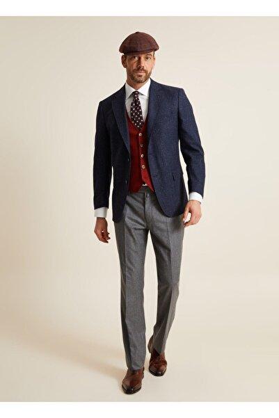 Bisse Klasik Fit 4 Drop Platinum Blazer Ceket