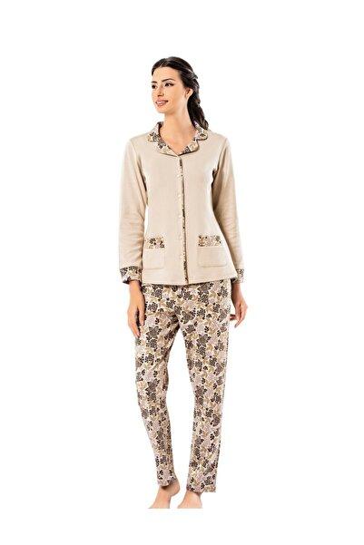 Şahinler Kadın Bej Pijama Takımı Mbp25001-1