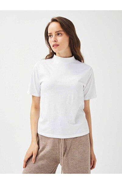 Xint Xınt Dik Yaka %100 Pamuk Rahat Kesim Basic Tişört