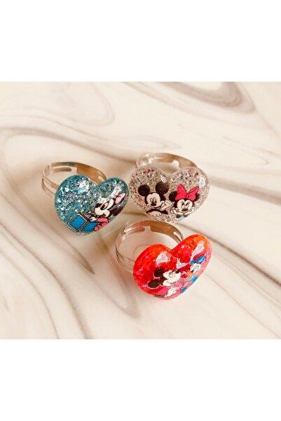 Yeşim Aksesuar Mini Mouse Ayarlanabilir Çocuk Yüzük (3 Adet)/ Mickey Mouse Çocuk Yüzüğü