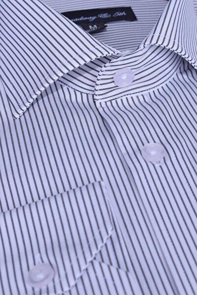 Ottomoda Broadway Uzun Kollu Çizgili Erkek Gömlek
