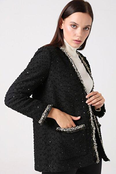 Gusto Yakasız Ceket - Siyah