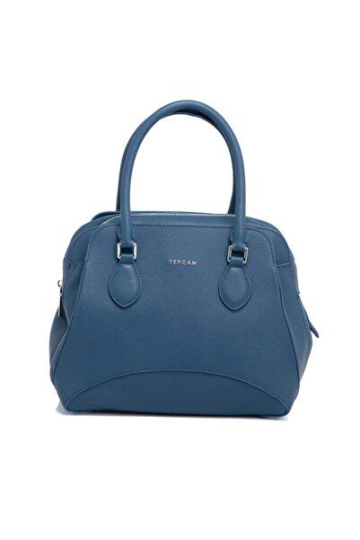 Tergan Mavi Deri Kadın Çanta 79562h2a