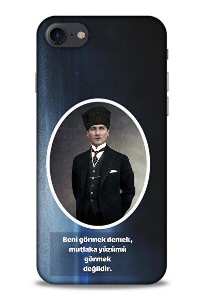 Lopard Iphone 7 Uyumlu Atatürk (7) Lacivert Telefon Kılıfı
