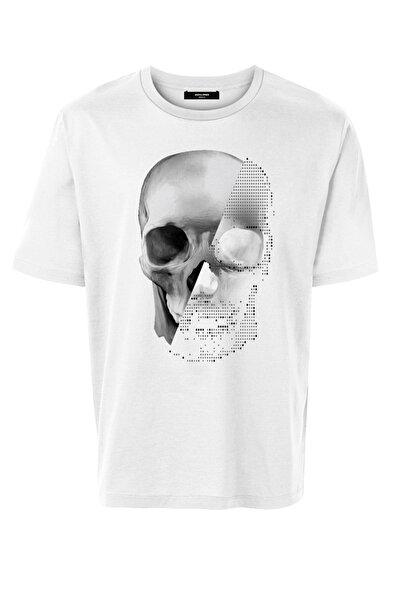 Jack & Jones Erkek Kuru Kafa Beyaz Tshirt - 12195745