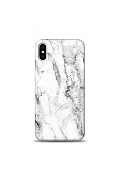 EXCLUSIVE Apple Iphone Xs Max Beyaz Mermer Desenli Telefon Kılıfı