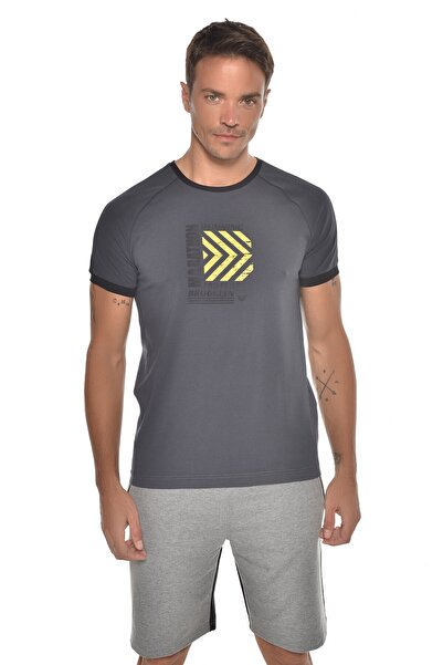 bilcee K.gri Erkek Baskılı Kısa Kol T-shirt Gw-9235