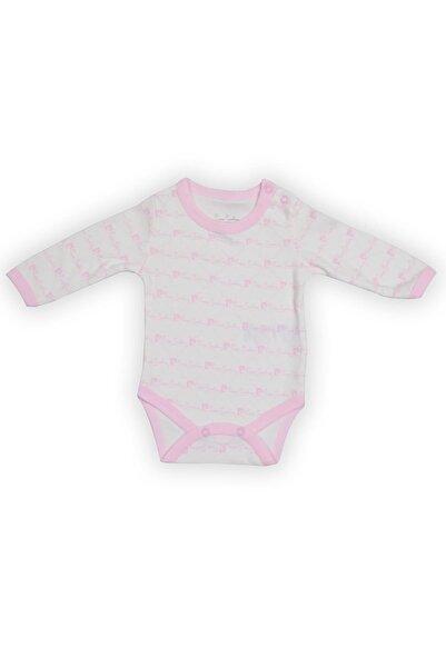 Pierre Cardin Baby Pierre Cardin Uzunkol Küçük Yazılı Bebek Body Ekru-pembe