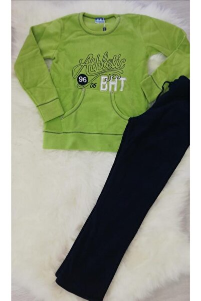 Haluk Bayram Ba Ha Polar Pijama Takımı Yeşil
