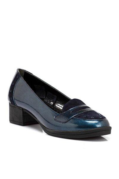 Tergan Lacivert Rugan Deri Kadın Ayakkabı 65219o8n
