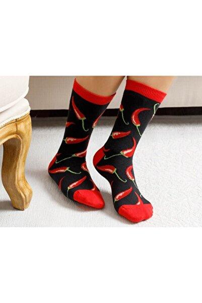 English Home Chili Pamuk Kadın Çorap Kırmızı