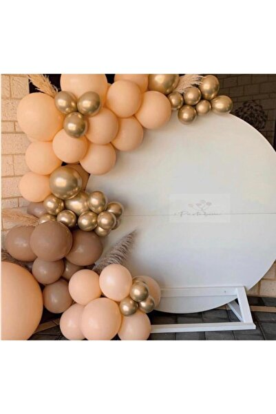 canbayhobi Krom Gold Karamel Kahve Somon Renkte Balon Zincir