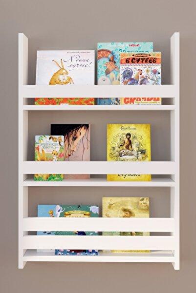 Pratico Montessori Çocuk Odası Eğitici Kitaplık 3 Raflı
