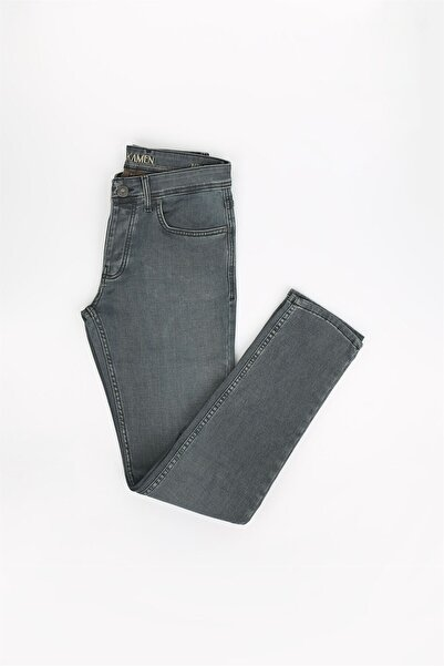Jakamen Haki Renk Slim Fit Erkek Kot Pantolon