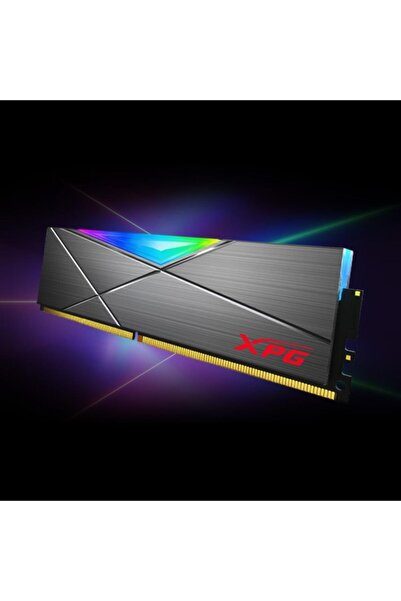 Adata Xpg Ax4u320038g16a-st50 Spectrix D50 8gb Ddr4 3200 Mhz Cl16 Rgb Tungsten Gri Ram Ax4u320038g16a-st50