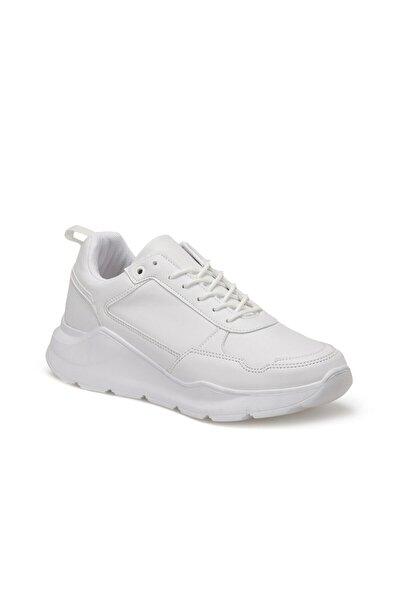 FORESTER Ec-1065 Beyaz Erkek Kalın Taban Sneaker Spor Ayakkabı