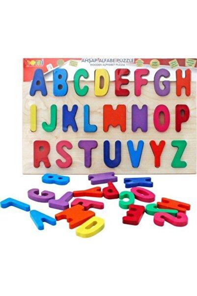 BEMİ Lüks Ahşap Doğal Alfabe Puzzle - Beceri Eğitici Zeka Strateji Çocuk Oyunu