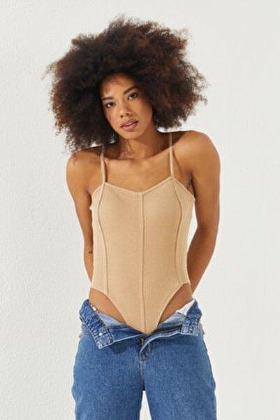 Kadın Taş Çıtçıtlı Askılı Bluz