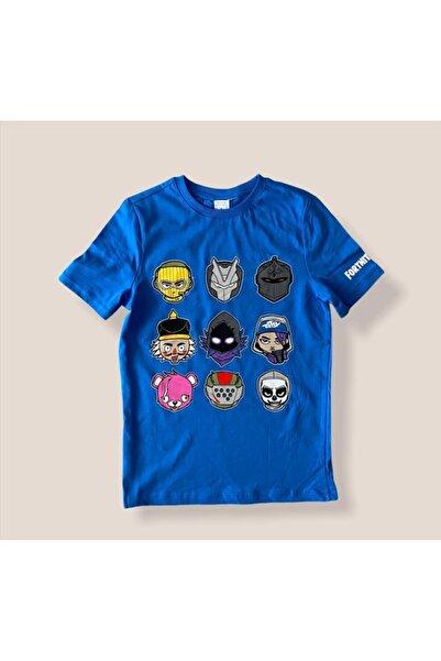 Fortnite Erkek Çocuk Mavi Tshirt