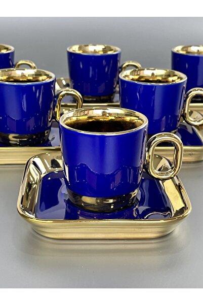 ACAR Porselen Vienno Lacivert Gold 6 Lı Fincan Takımı