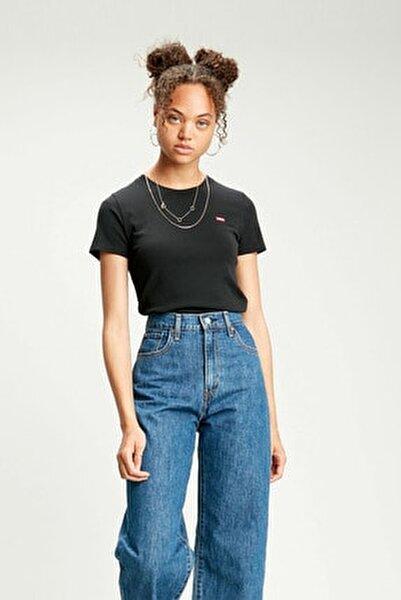 Kadın Ss Rıb Baby Siyah T-shirt 37697-0014
