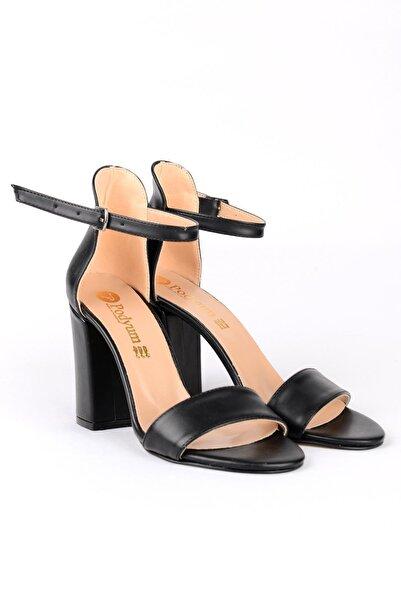 ODESA Kadın Siyah 9 Cm Tek Bant Topuklu Ayakkabı