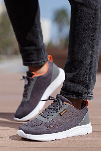 MUGGO Unisex Gri Bağcıklı Sneakers Ayakkabı Svt17