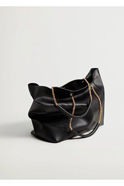 MANGO Woman Zincir Saplı Shopper Çanta